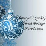 Zdrowych, spokojnych Świąt!!!